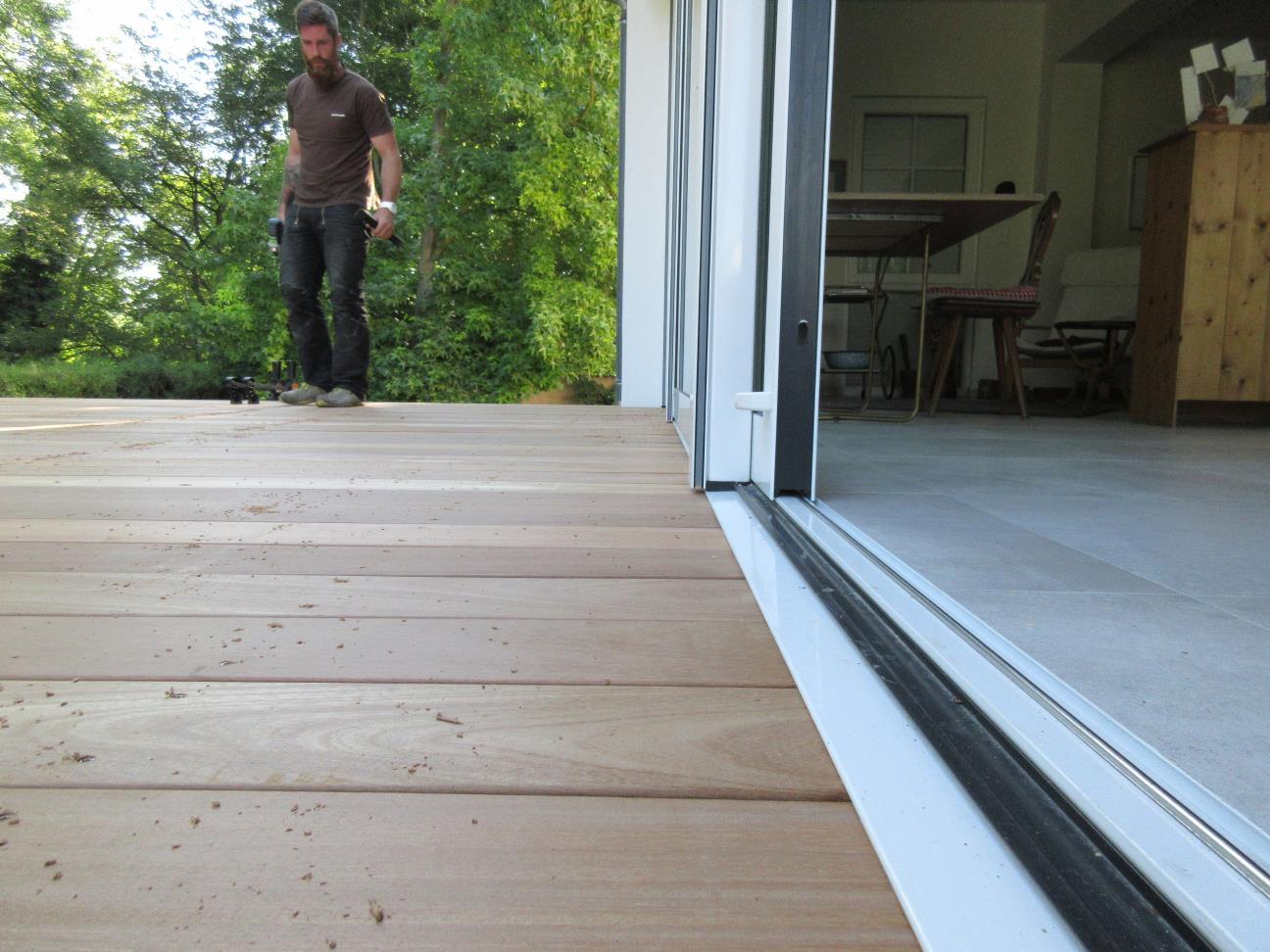 Les détails de seuils d'une terrasse font la différence
