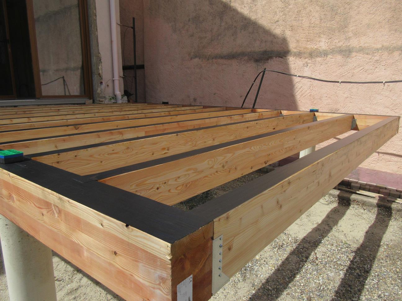 Poteau Bois Pour Terrasse terrasse en bois mélèze - lipsheim 67 - projet t2 - hemia