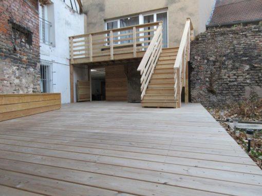 Projet t3 – Terrasse en bois sur plots en Mélèze – Haguenau 67