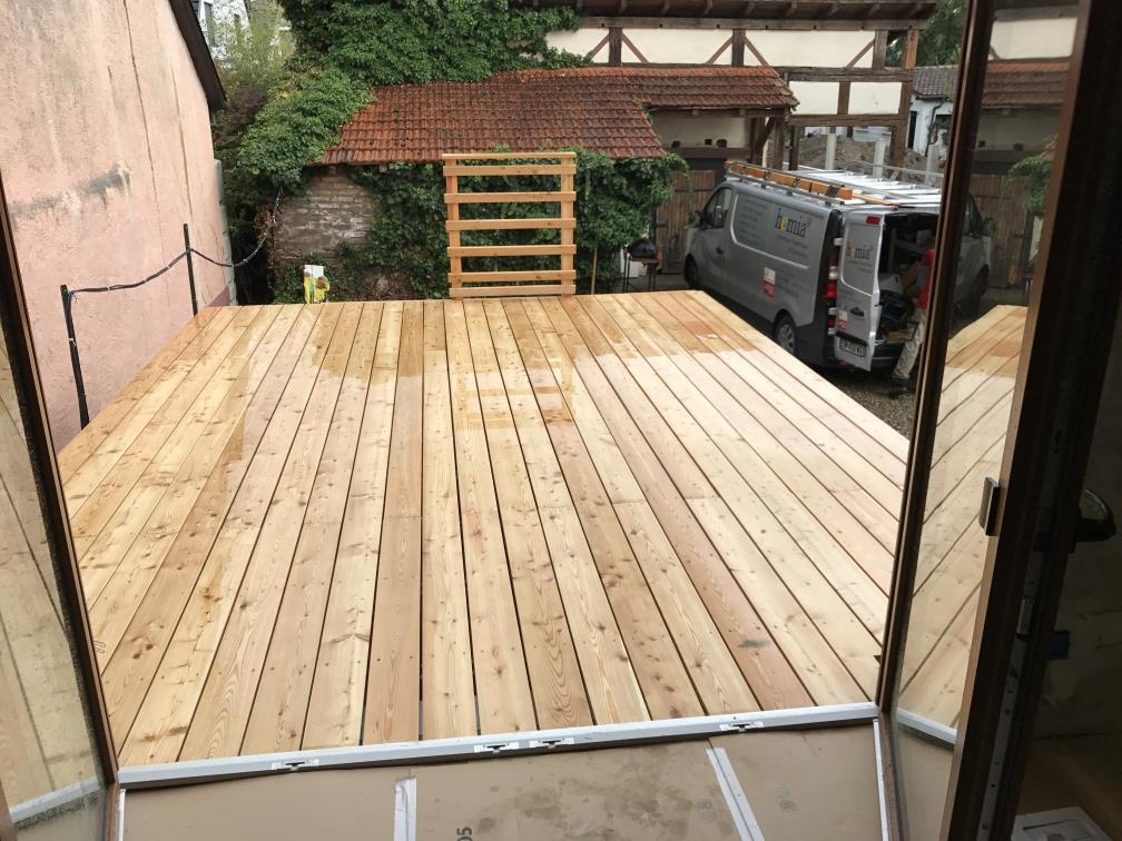 Terrasse en bois m l ze lipsheim 67 projet t2 hemia - Porte terrasse ...