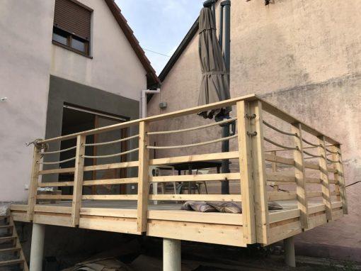 Projet t2 – Terrasse en bois Mélèze – Lipsheim 67