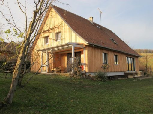 Projet bar2 – Bardage bois Douglas brut – Mittelbergheim