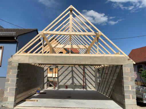 Projet d1 – Charpente garage – Balbronn