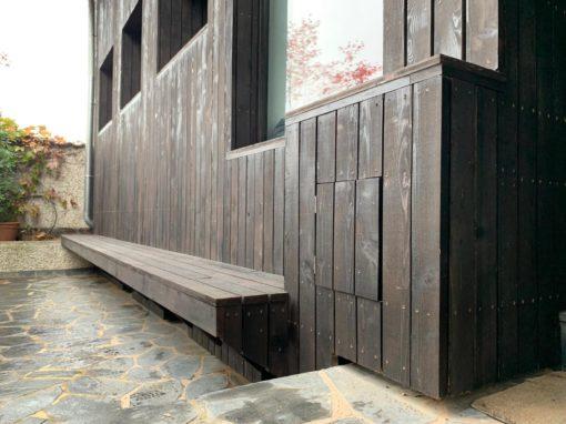Projet bar4 – Bardage bois – Mélèze brut – Aspect brulé – Schiltigheim