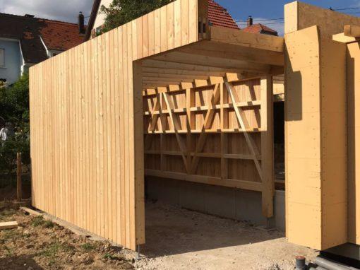 Projet bar5 – Bardage bois – Mélèze raboté – Wolfisheim